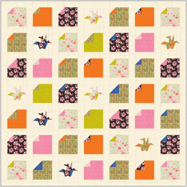 "Origami Quilt Pattern ""width ="" 640 ""height ="" 640 ""data-pin-description ="" Origami Quilt Pattern by BlossomHeartQuilts.com ""srcset ="" http://www.blossomheartquilts.com/wp-content/uploads/2019/ 09 / Origami-mix-quilt-640x640.jpg 640w, http://www.blossomheartquilts.com/wp-content/uploads/2019/09/Origami-mix-quilt-150x150.jpg 150w, http: // www. blossomheartquilts.com/wp-content/uploads/2019/09/Origami-mix-quilt-400x400.jpg 400w, http://www.blossomheartquilts.com/wp-content/uploads/2019/09/Origami-mix-quilt -768x768.jpg 768w, http://www.blossomheartquilts.com/wp-content/uploads/2019/09/Origami-mix-quilt-275x275.jpg 275w ""sizes ="" (max-width: 640px) 100vw, 640px ""/></p> <p>This is my first model in EQ8; the first iteration of origami. The final quilt design for the pattern has been slightly changed, especially to use the base paper crane as an optional block. But I loved the sketch, it was fun and inspiring, and luckily it loved my mother too, so she was full of energy.</p> <p>I love the way EQ8 makes designing quilts and playing with fabric placement and block design! If you would like to use EQ8 to design your quilts, use the code <strong>EQ8ALYCE</strong> 20% discount on your order <a target="
