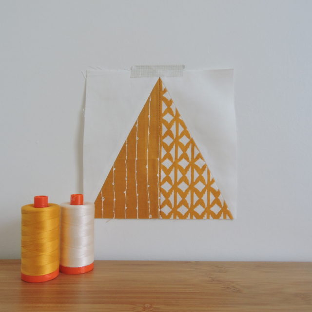 Half rectangle triangle quilt block
