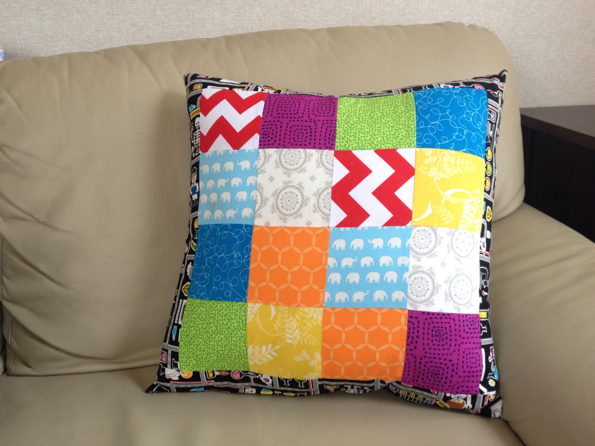 Sewing With Kids A Finished Cushion Cover