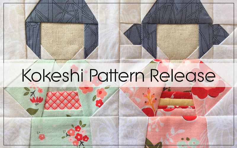 Kokeshi Doll Quilt Block Pattern Blossom Heart Quilts
